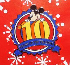 Disney Pin MICKEY Pin Trading 10th Anniversary