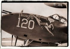 """P-38 Lightning """"Thoughts of Midnite""""...something good must have happen."""