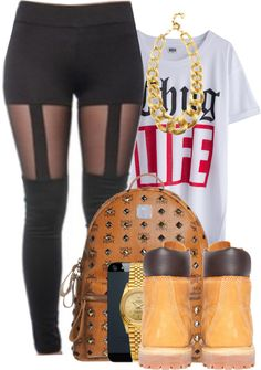 """""""The Thug Life."""" by snake-biter ❤ liked on Polyvore I would do timb heels"""