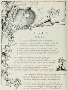 Old Wives Tales - Fairy Tea - 1914 - St. Nicholas : an Illustrated Magazine for Young. Magick, Witchcraft, Old Wives Tale, Wives Tales, Nursery Rhymes Poems, Fairy Quotes, Pomes, Vintage Fairies, Fairy Art