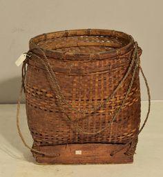 Basket Indonesian Rattan Lombok Sasak People Handmade Woven