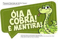 Plaquinha Divertida Festa Junina Óia a Cobra