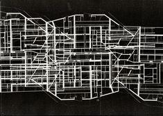 Alternate diagram of Casa da musica. Drawing by Saeed Hekmatnia. #casa #da #musica #drawing #diagram #oma #rem #koolhaas