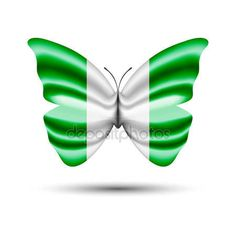 Nigerian flag butterfly — Stock Vector © jackreznor #144025663 Nigerian Flag, Flag Vector, Fire Dragon, Happy Independence Day, Print And Cut, Flags, Sticks, Roots, Butterflies