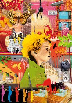 self portrait collage or protrait collage with person at centre Collage Foto, Collage Portrait, Portraits, Mixed Media Artwork, Mixed Media Collage, Photomontage, Bohemian Art, A Level Art, Mandala