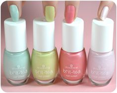 hi beauties, our brit-tea nail polishes are perfect for creating a springlike…