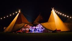 Tipi party, after dark - South Wales
