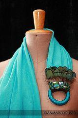 Foulard gioiello elegante invenzione del mio amico fashion designer Gianmarco Russo