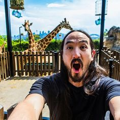 steve aoki, dan bilzerian, a giraffe and the search for eternal life Dj Steve Aoki, Dan Bilzerian, Giraffe, Rock, Search, Life, Giraffes, Searching, Locks