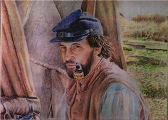 A civil war re-enactor asked this to be done of him in costume. ( Colored Pencil )