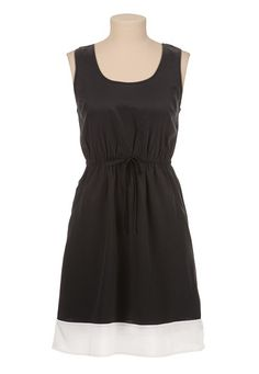 contrast hem tank dress with pockets (original price, $39) available at #Maurices
