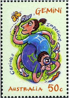 Géminis - Sello de Australia de 2007