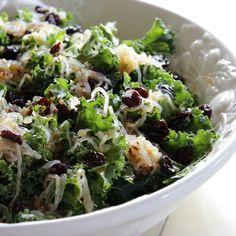 dressing salad with broccoli dried cherry white beans sunflower seeds ...