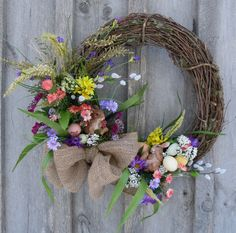 Such a festive Easter or Spring wreath