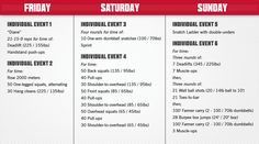 Regional Workouts - Individual | CrossFit Games
