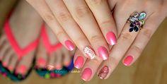 nail art girly gel facile