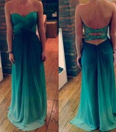 Strapless Backless Draped Chiffon Sexy Prom dress L25