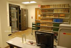Washington County TN Archives. The old First National Bank vault room turned reference library, etc.