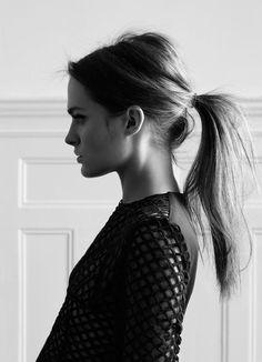 Messy ponytail. #hair