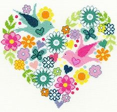 Heart Bouquet Cross Stitch Kit XB1
