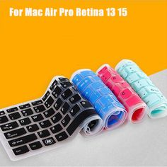 Laptop Accessories 9 Colors Silicone Laptop Keyboard Cover Skin for MacBook Pro MAC 13 15 Air 13 Soft Keyboard Stickers-Yellow