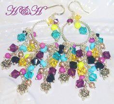 Swarovski Crystal Chandelier Earrings by hhjewelrydesigns on Etsy, $45.00