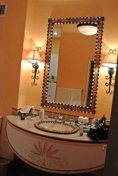 African inspired bathroom decor
