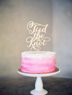 'Tied the Knot' Cake Topper.