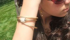 Gold Leather Wrap Bracelet Womens Leather by RealLeatherBracelets Leather Charm Bracelets, Leather Jewelry, Gold Leather, Trending Outfits, Unique Jewelry, Heels, Handmade Gifts, Etsy, Women