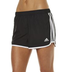 Adidas Go To Gear Womens Short ($29) ❤ liked on Polyvore featuring activewear, activewear shorts, black white, adidas activewear, adidas sportswear and adidas