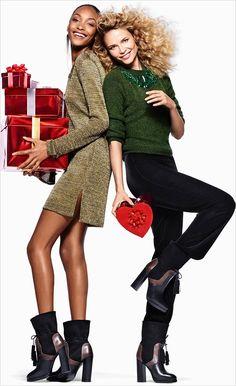 Natasha Poly and Jourdan Dunn for H&M Holiday 2015 campaign campaign fashion christmas Natasha Poly, Fashion Shoot, Editorial Fashion, Fashion News, Christmas Editorial, Christmas Campaign, Jourdan Dunn, Campaign Fashion, 50 Style
