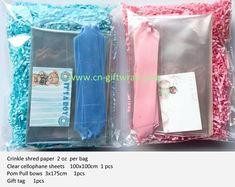 Make Your Own Hamper Kit Bow /& Shredded Paper Bag Red or White