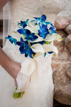 blue wedding flower bouquet, bridal bouquet, wedding flowers, add pic source on comment and we will update it. can create this beautiful wedding flower look. Wedding Flower Guide, Blue Wedding Flowers, Wedding Flower Arrangements, Flower Bouquet Wedding, Lily Wedding, Boquet, Bouquet Flowers, Table Flowers, Burgundy Wedding