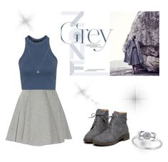 """""""Grey"""" by avagarvey ❤ liked on Polyvore featuring MSGM, Topshop and LC Lauren Conrad"""