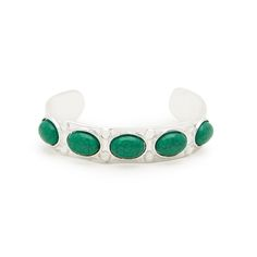 Hayden is a classic in silver and emerald tones. An easy choice for every day glam, the weathered feel of hayden's cracked stones adds further interest. Pair this beauty with a collection of silver bangles, or let Hayden sing on her own. Find it on Splendor Designs