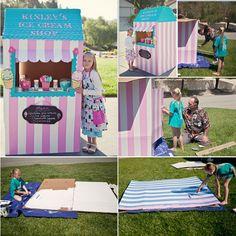 Kinley's Cardboard Ice Cream Shop » Mommy Babble | Aimee Pool Photography | Santa Cruz Photographer