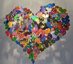 I love it.  Sculpture of enamel on metal by David Kracov - look within your heart