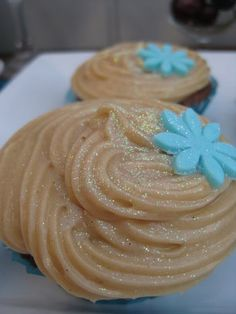 Peanut butter cookie dough stuffed chocolate cupcakes - delish!