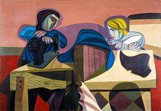 Robert MacBryde, Two Women Sewing, 1948. BBC Arts - BBC Arts - The Two Roberts: Love, paint and poverty