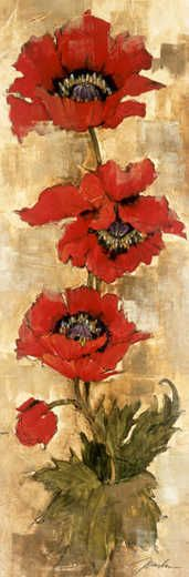 Strand of Poppies II by Liz Jardine. Available on Posters2Prints.com.