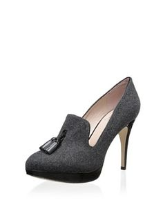 50% OFF Vince Camuto Women's Emmi Tassel High Heel Platform Pump (Dark Grey/Black)