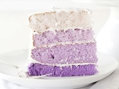 Fabulous Purple Ombre Layer Cake