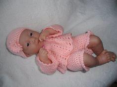 Crochet pattern for Berenguer 14 inch la newborn by petitedolls, £2.50