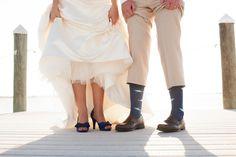 Wedding Shoes, Light Blue & Yellow Waterfront Tampa Bay Watch Wedding - Kimberly Photography (26)