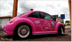 VolksWagen Beetle Pinky Hello Kitty, Automotive News and Info, VolksWagen Beetle Pinky Hello Kitty Beetle Bug, Vw Beetles, Pink Beetle, My Dream Car, Dream Cars, Little Octopus, Steampunk Octopus, Automotive News, Love Car
