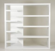 Boekenkast, planken verschillende niveaus