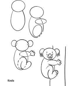 Dover Publications: free How to Draw a Koala page.