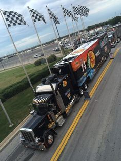 No Limits, Texas is filling up! @NASCAR Sprint Cup haulers loading in!