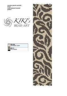 2 szemes páros peyote karkötő minta. Szélessége 1.48 inch, azaz 3,74 cm, hossza 7.06 inch, azaz 17.86cm.  You can find more patterns in...