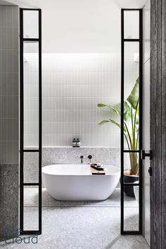 TileCloud | Redfern Project | Stirling Terrazzo Look Grey Tile Wc Decoration, Bathroom Design Inspiration, Design Ideas, Bathroom Design Luxury, Bathroom Trends, Bathroom Ideas, Laundry In Bathroom, Master Bathroom, Bathroom Styling